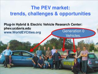 The PEV market:  trends, challenges & opportunities