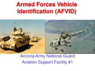 Armed Forces Vehicle Identification (AFVID)