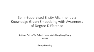 Semi-Supervised Entity Alignment via Knowledge Graph Embedding with Awareness of Degree Difference