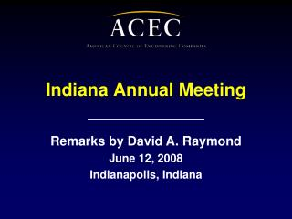 Indiana Annual Meeting