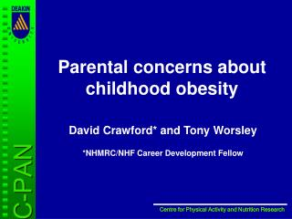 Parental concerns about childhood obesity