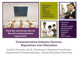 Communication Industry Careers: Experience over Education