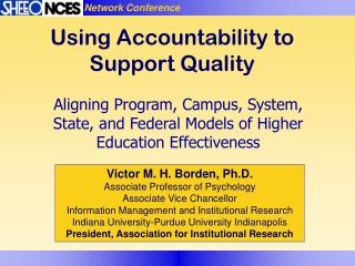 Using Accountability to Support Quality