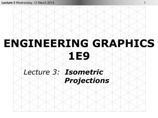 ENGINEERING GRAPHICS 1E9
