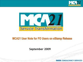 MCA21 User Note for FO Users on eStamp Release