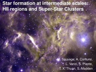 Star formation at intermediate scales: HII regions and Super-Star Clusters