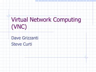 Virtual Network Computing (VNC)