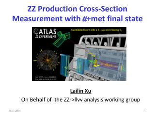ZZ  Production Cross-Section Measurement with  ll +met final state