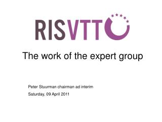 The work of the expert group