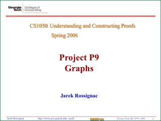 Project P9 Graphs