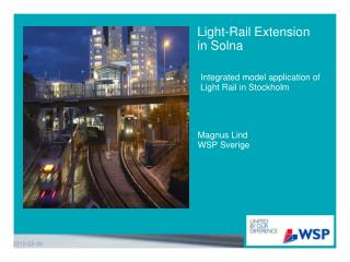 Light-Rail Extension in Solna