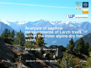 Analysis of sapflow measurements of Larch trees within the inner alpine dry Inn-valley