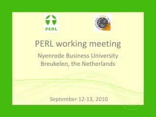 PERL working meeting Nyenrode Business University Breukelen , the Netherlands