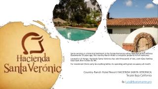 Country- Ranch Hotel Resort HACIENDA SANTA VERONICA Tecate Baja California By Luis@Bustamante.pro
