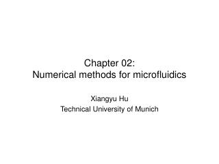 Chapter 02: Numerical methods for microfluidics