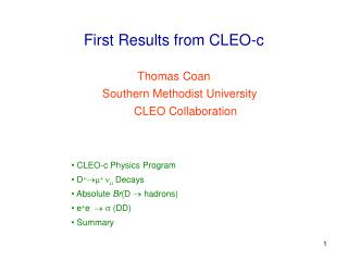 First Results from CLEO-c
