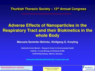 Thurkish Thoracic Society – 12 th  Annual Congress