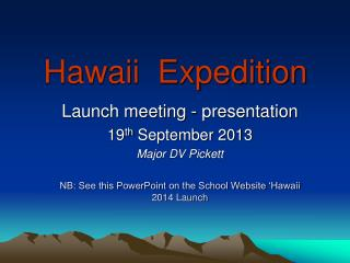 Hawaii  Expedition