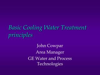 Basic Cooling Water Treatment principles