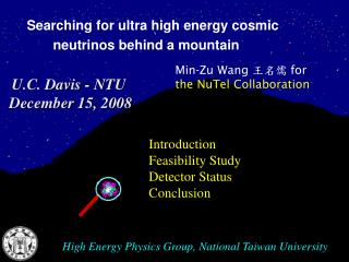 High Energy Physics Group, National Taiwan University
