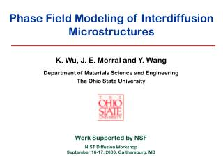 Phase Field Modeling of Interdiffusion Microstructures