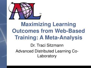 Maximizing Learning Outcomes from Web-Based Training: A Meta-Analysis