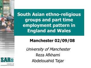 South Asian ethno-religious groups and part time employment pattern in England and Wales