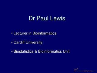 Dr Paul Lewis