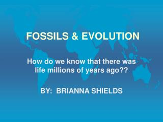 FOSSILS & EVOLUTION