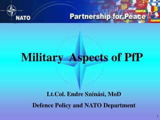 Military  Aspects of PfP
