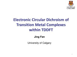 Electronic Circular Dichroism of Transition Metal  Complexes  within TDDFT