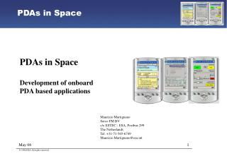 PDAs in Space