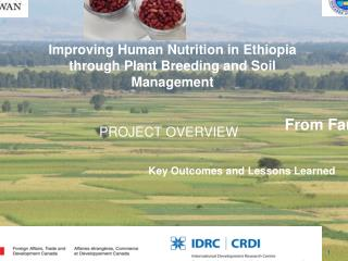 Improving Human Nutrition in Ethiopia through Plant Breeding and Soil Management