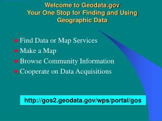 Welcome to Geodata Your One Stop for Finding and Using  Geographic Data