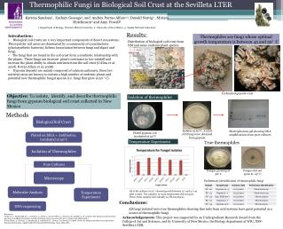 Thermophilic Fungi in Biological Soil Crust at the Sevilleta LTER