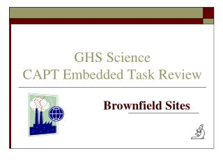 GHS Science CAPT Embedded Task Review