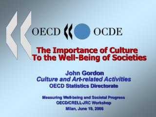 Culture Statistics at the OECD