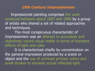 19th Century Impressionism