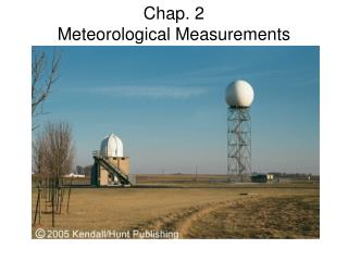 Chap. 2 Meteorological Measurements