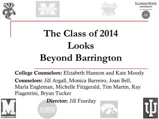 The Class of 2014 Looks  Beyond Barrington