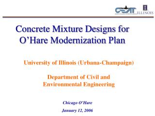 Concrete Mixture Designs for O'Hare Modernization Plan