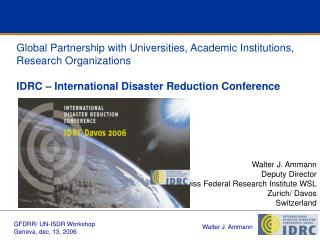Global Partnership with Universities, Academic Institutions, Research Organizations