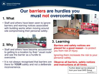Our  barriers  are hurdles you must  not  overcome