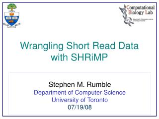 Wrangling Short Read Data with SHRiMP