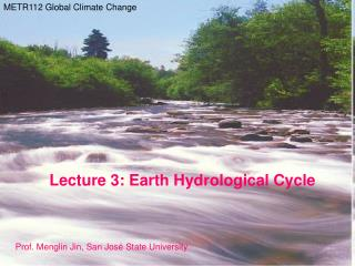 Earth Hydrological Cycle