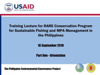 The Philippine Environmental Governance Project