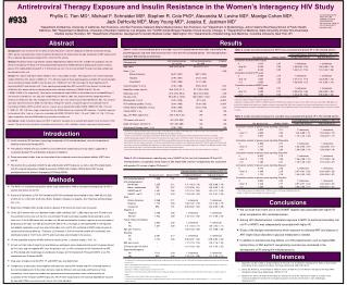 Antiretroviral Therapy Exposure and Insulin Resistance in the Women's Interagency HIV Study