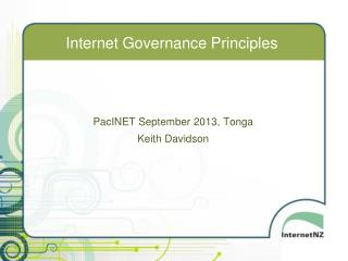 Internet Governance Principles