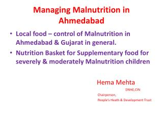 Managing Malnutrition in Ahmedabad