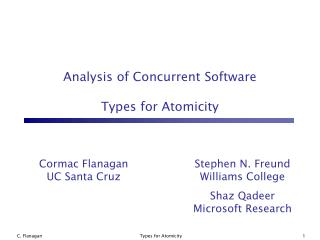 Analysis of Concurrent Software Types for Atomicity